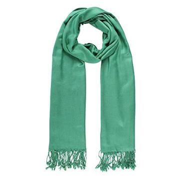 xale pashmina visc lisa 12 verde bandeira besha
