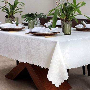 Imagem de Toalha De Mesa Retangular Arabesco Off White 1,60 X 2,20M, Auguri
