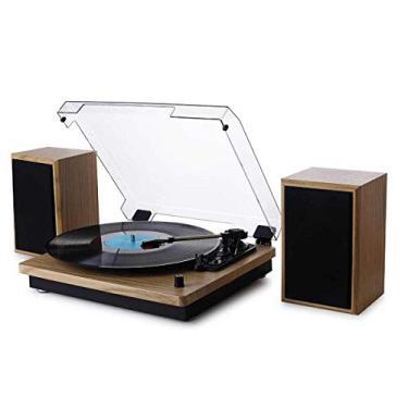 Vitrola Toca Discos de Vinil Bluetooth Concert Aria com 02 caixas de som externas Arena Phoenix Ópera Tenor Maxsound Uitech