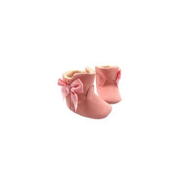 Imagem de Bota fase 1 rosa escuro com laço menina pimpolho
