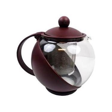 Chaleira Em Vidro Com Infusor Coador De Chá 750 Ml
