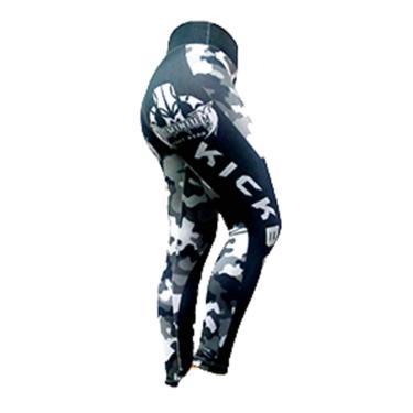 Imagem de Calça de Compressão Termica Legging Feminina - 2224 MA - Camuflado Urbano - PP - Kick Boxing