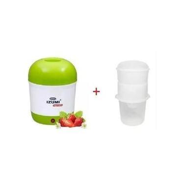 Imagem de Iogurteira Elétrica Bivolt 1 Litro + 1 Dessorador Izumi