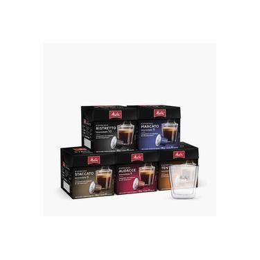 Kit Melitta Cápsulas Espresso Degustação +Copo Espresso 80ml