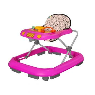 Andador Infantil de Bebê Safari Rosa - Tutty Baby - Tutti baby