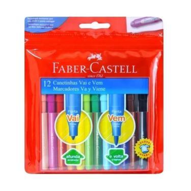 Canetinha Vai E Vem Faber Castell 12 cores