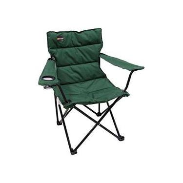 Cadeira Dobrável Nautika Camping Pesca Boni + Bolsa Verde