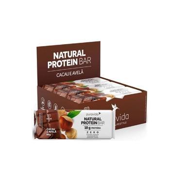 Natural Protein Barra Cacau e Avelã (12 unidades) Pura Vida