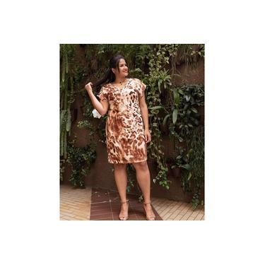 Vestido Alfaiataria Animal Print PLUS SIZE