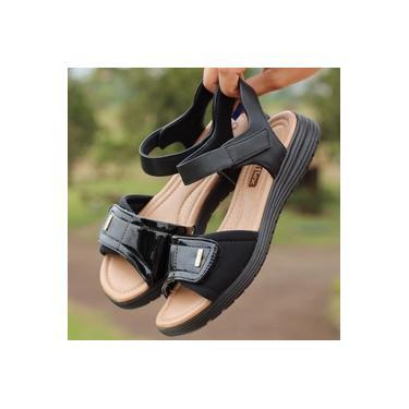 Sandalia Comfort Flex Preto Feminino 19-51403