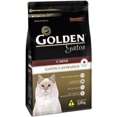 Ração Seca PremieR Pet Golden Carne para Gatos Castrados - 3 Kg
