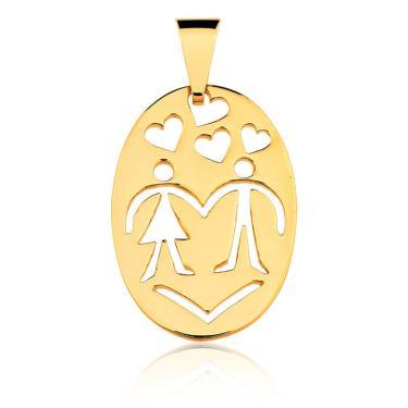 Pingente Ouro Medalha   Joalheria   Comparar preço de Pingente - Zoom 983ceb6b61