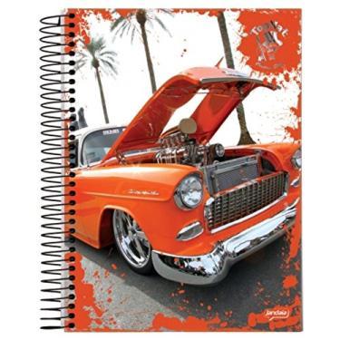 Caderno Universitário Espiral 1X1 96 Folhas Capa Dura Jandaia - Top Hat Carro 01