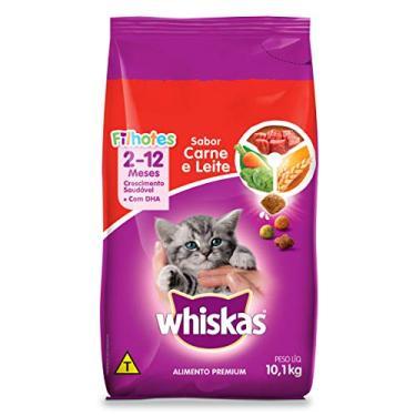 Ração Whiskas Carne e Leite Para Gatos Filhotes 10,1 kg