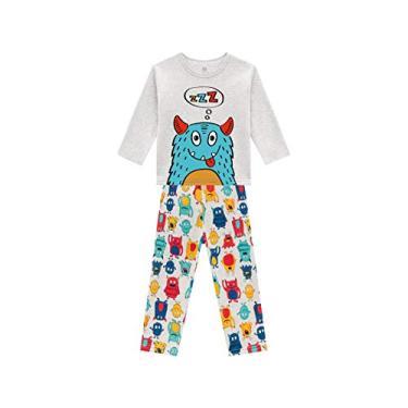 Pijama Infantil Inverno Moletom Flanelado Menino Brandili Monstrinhos 1-3/4-8 Anos (6)