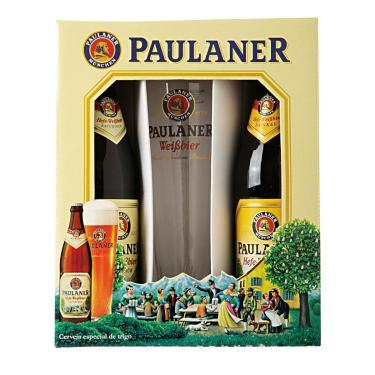 Cerveja Paulaner Hefe-Weissbier Kit Com Copo