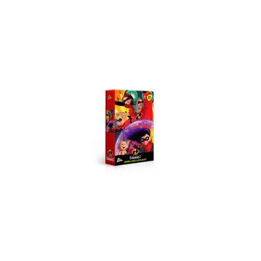 Imagem de Quebra-Cabeça Metalizado - Disney - Pixar - Os Incríveis 2 - 200 Peças - Toyster