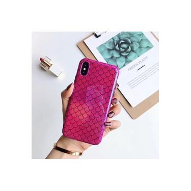 Para Iphone 7 8 Plus 6 S Blu-ray Escala De Peixe Capa Case Para Iphone Xs X 6 6 S 7 8 Plus Laser Br
