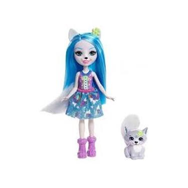 Boneca Fashion e Animal - Enchantimals - WINSLEY WOLF E TROOPER Mattel