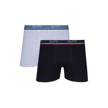 Imagem de Kit 2 Cuecas Boxer Lupo Comfort Algodão Cinza/preta