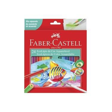 Lápis De Cor 24 Cores Aquarelável Faber Castell