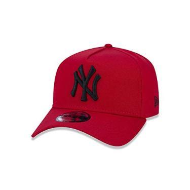 Imagem de BONE 9FORTY A-FRAME MLB NEW YORK YANKEES ABA CURVA SNAPBACK VERMELHO New Era