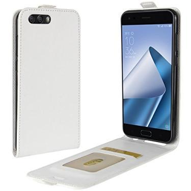 Zl One Compatível com/Substituição para Capa de telefone Asus Zenfone 4 ZE554KL Couro Poliuretano Proteção Cartão Compartimentos Capa carteira Capa flip (Branco)