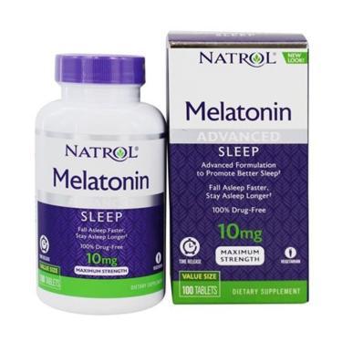 Melatonina 10mg (100 comprimidos) Natrol Advanced Sleep Natrol