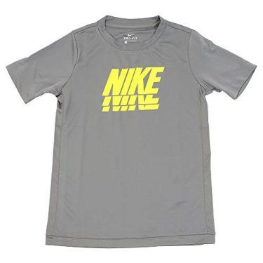Camiseta Infantil Meninos Nike Trophy Cor:Cinza;Tamanho:M