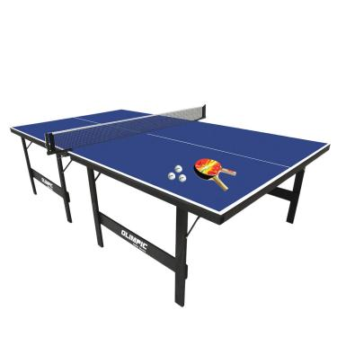 Imagem de Kit Mesa De Ping Pong Klopf 15Mm Em Mdp 1013 - Acompanha 2 Raquetes, 3 Bolinhas, Suporte E Rede