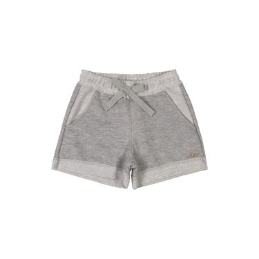 Shorts Infantil Em Moletinho, Quimby, Meninas, Mescla Cinza Medio, 10