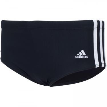 Sunga com Proteção Solar UV adidas 3-Stripes Wide - Infantil adidas Masculino