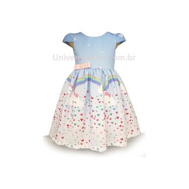 Vestido Infantil Nuvem de Amor