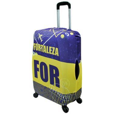 Capa Para Mala De Viagem Média Pequena Bordo Pp Fortaleza ys27076