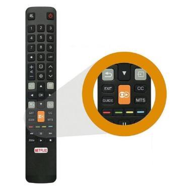 Controle Remoto Tv Led 4k TCL Semp Toshiba L55s4900fs Teclas Netflix Globoplay