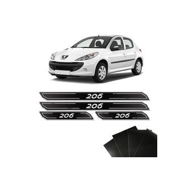 Jogo de Soleira Diamante Peugeot 206 Com Protetor De Porta