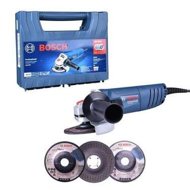 Esmerilhadeira Angular 4.1/2 850w Gws 850 127v + 3 Discos Bosch 127v