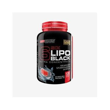 6 Six Lipo Black - 120 cápsulas - Bodybuilders