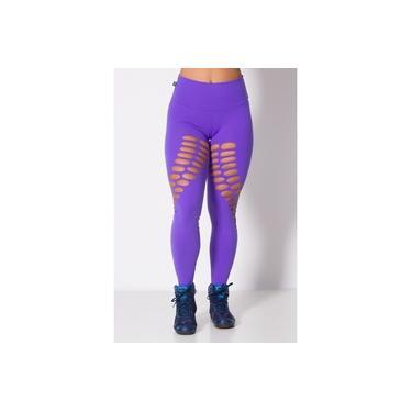 Legging Fitness Laser Diagonal Lilás