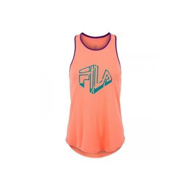 Camiseta Regata com Proteção Solar UV Fila Run Silva - Feminina