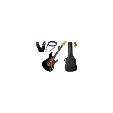 Imagem de Guitarra Tagima T635 Classic Preto Escala Escura Capa Cabo