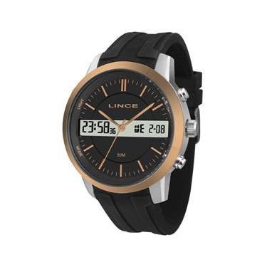 2406cd1e107 Relógio Lince Masculino Ref  Map4491s P1px Anadigi Bicolor