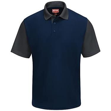 Imagem de Camisa polo Red Kap Performance SK56, Navy / Charcoal, XXL