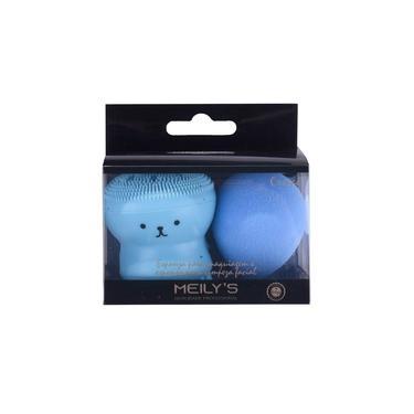 Kit Esponja para Maquiagem e Limpeza Facial Meily's