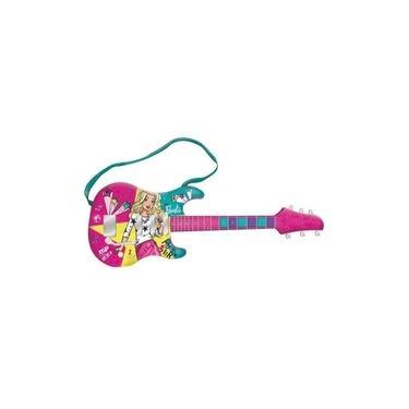 Imagem de Guitarra Infantil Com Mp3 Player Barbie Guitarra Fabulosa
