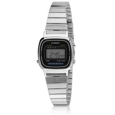08702bf87ba Relógio Casio Vintage Digital Feminino LA670WA-1DF