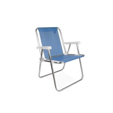 Cadeira Alta de Alumínio Praia Piscina Pesca Varanda Mor Sannet