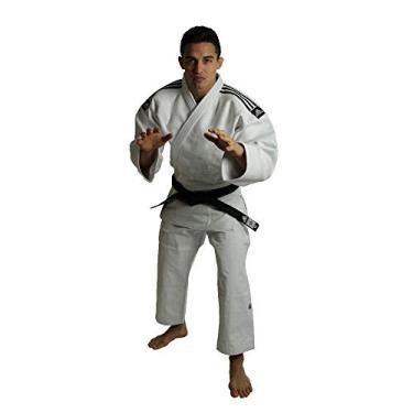Kimono Judô Adidas Champion II Branco Com Novo Selo Eletronico Da Ijf 160