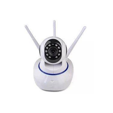 Câmera Ip 360 3 Antenas HD WiFi Visão Noturna e Alarme
