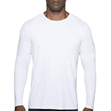 Camiseta Repelente UV, Lupo Sport, Masculino, Branco Antártida, G